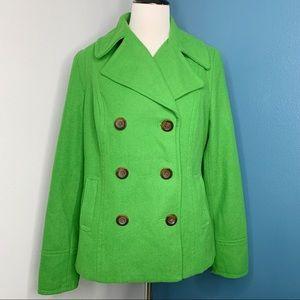 Green Wool Peacoat Old Navy Size Medium